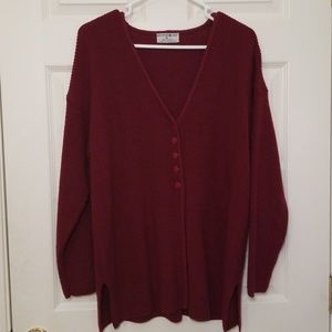 Mountain Lake sweater  - maroon in color